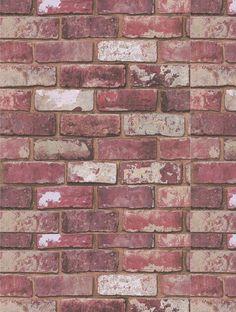 The wallpaper company 56 sq ft red brick wallpaper Brick wallpaper home depot