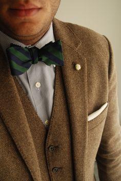 tweed + bowtie