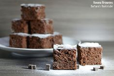 Barbara's Backstube: Banana Brownies Beste Brownies, Banana Brownies, Ober Und Unterhitze, Muffin, Breakfast, Desserts, Food, Milky Bar Chocolate, Recipes With Bananas
