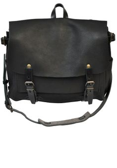 Postman Eclair leather bag - BLACK