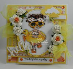 hello you brighten my day card by Leah Ann Gast... (pinned from Facebook)