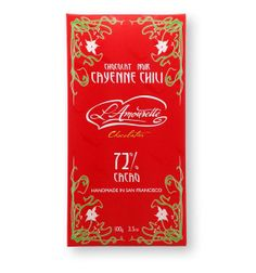 New L'Amourette 72% Dark Chocolate Cayenne Chili  Cinamon available at Sincerely, San Francisco now http://www.sincerelysf.com/collections/sweet/products/l-amourette-chocolat-dark-chocolate-with-cayenne-chili-cinnamon