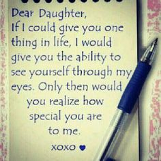Dear daughter...