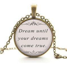 Dream Until Your Dreams Come True Antique Bronze by AimToCharm, £6.10