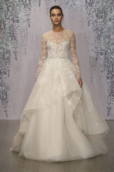 Long Sleeved Bridal Gown Delaney from Monique Lhuillier || Wedding Dresses…