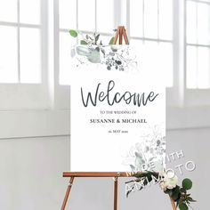 This boho Welcome to our Wedding Sign is an INSTANT DOWNLOADABLE and FULLY EDITABLE TEMPLATE. Free Wedding Templates, Sign Templates, Wedding Signs, Wedding Cards, Eucalyptus Wedding, Welcome To Our Wedding, Wedding Announcements, Green Wedding, Reception