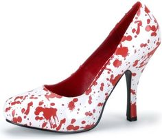 Blood spatter shoes for teaching forensic science