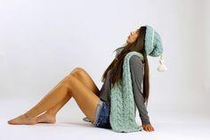 "Alpakamütze ""Jolanda"" mit Quaste Grobstrick XS-S von amjas.net  auf DaWanda.com"