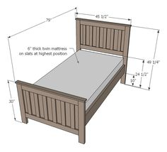 Best Build A Panel Headboard Ana White Build A Twin Farmhouse Bed Free And Easy Diy Project And 400 x 300