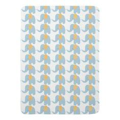 Orange & Blue Baby Mod Elephant Baby Blanket