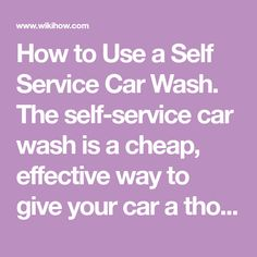 7 best self service car wash images on pinterest self service car how to use a self service car wash the self service car wash is solutioingenieria Image collections