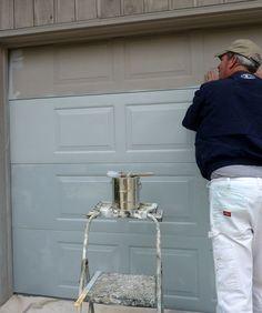How to paint an aluminum garage door doityourself lake diy project overhead garage door re paint diy home staging tips homestagingtips solutioingenieria Choice Image