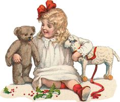 vintage accessories for the pics Christmas Graphics, Kids Christmas, Vintage Cards, Vintage Postcards, Clipart Vintage, Images Victoriennes, Antique Teddy Bears, Victorian Pictures, Vintage Christmas Images