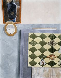 Marjatta Hanhijoki Silkkihuivi akvarelli  2003 Watercolor Art, Quilts, Blanket, Watercolours, Paintings, Silk, Kunst, Watercolor Painting, Paint
