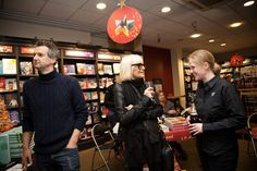 12/12/12 Christmas Author Signing - Our Assistant Manager Vic with Simon Grant and Barbara Hulaniki author of 'Seamless from Biba'