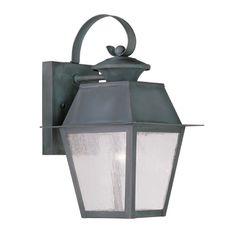 Livex Lighting Mansfield Charcoal Outdoor Wall Light | 2162-61 | Destination Lighting