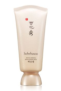 Move Over, BB: These Asian Beauty Innovations Are The Next Big Thing #refinery29  http://www.refinery29.com/48924#slide-1  Formulated with Korean medicinal herbs, this gentle exfoliating mask promotes the skin's natural circulation and hydration.  Sulwhasoo White Ginseng Brightening Mask, $60, available at Bergdorf Goodman.