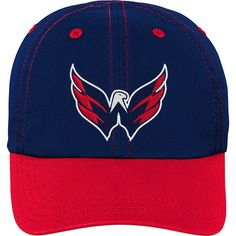 e0d444cf0 Infant Washington Capitals Navy Red Chainstitch Slouch Adjustable Hat