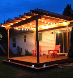The wooden pergola is a good solution to add beauty to your garden. If you are not ready to spend thousands of dollars for building a cozy pergola then you may devise new strategies of trying out something different so that you can re Deck With Pergola, Outdoor Pergola, Wooden Pergola, Backyard Pergola, Diy Patio, Outdoor Spaces, Garden Gazebo, Cheap Pergola, Covered Pergola