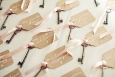 #escort-cards, #keys  Photography: Isabelle Selby Photography - isabelleselbyphotography.com Planning: Exquisite Affairs Productions - eapweddings.com Floral Design: Sprout Home - sprouthome.com