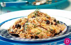 Μυδοπίλαφο | Dina Nikolaou Seafood Recipes, Cooking Recipes, Rice Pasta, Greek Cooking, Greek Recipes, Macaroni And Cheese, Fish, Chicken, Baking