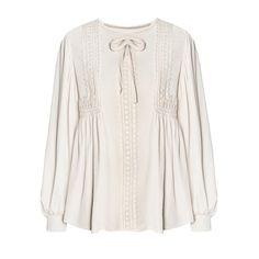 Ivory Velvet Lace Boho Blouse ($114) ❤ liked on Polyvore featuring tops, blouses, shirts, bohemian blouses, lace blouses, white shirt, lace sleeve shirt and velvet shirt