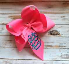 Glitter Monogram Boutique Hair Bow, Headband, Monogrammed gifts for Children, Bows, Hair Clips, Hair Accessory
