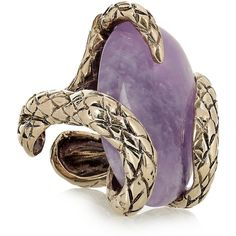 Roberto Cavalli Gold-plated amethyst snake ring (1.100 ARS) ❤ liked on Polyvore featuring jewelry, rings, accessories, purple, anillos, roberto cavalli, snake ring, engraved jewelry, roberto cavalli ring and amethyst rings