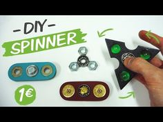 Como hacer un Spinner / How to make a Spinner Fidget Toy - YouTube