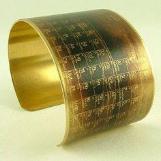 Periodic Table Cuff Bracelet
