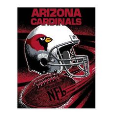 """Arizona Cardinals Throw - This 48"""" x 60"""" loom woven triple-layer jacquard throw blanket is made of 100% acrylic and features a football spiral design. - $39.99"""