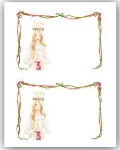 Santa Lucia Day Celebration + Free Crown Printables - http://www.sweetpaulmag.com/crafts/santa-lucia-crown-printables #sweetpaul