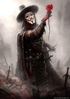 V – V for Vendetta fan art by Austen Mengler Joker Images, Joker Pics, Art And Illustration, Dark Fantasy Art, Dark Art, V For Vendetta Tattoo, V Pour Vendetta, V For Vendetta Comic, Vintage Wallpaper
