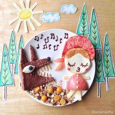 Cappuccetto rosso e il lupo (idee-per-far-mangiare-verdure-ai-bambini) by Samantha Lee