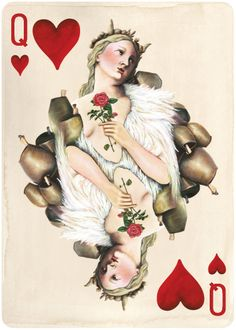 Pagan Playing Cards, Queen of Hearts. Available in March 2014. http://uusi.us/