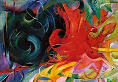 Kämpfende Formen  by Franz Marc Franz Marc, Kandinsky, Cavalier Bleu, Paul Klee, Oil Painting Abstract, Oil Paintings, Stretched Canvas Prints, Abstract Expressionism, Oeuvre D'art