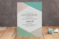 Overlap Foil-Pressed Bridal Shower Invitations by Rebecca Bowen at minted.com