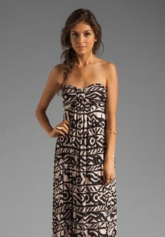 RACHEL PALLY Nanette Strapless Dress in Bamboo Serengeti at Revolve Clothing - Free Shipping!