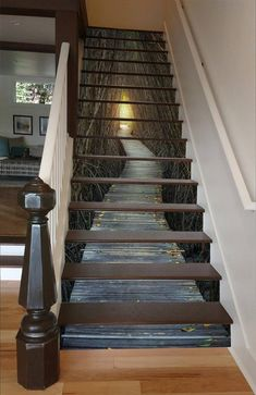 Bare Trees Wood Path 1557 Stair Risers - Decoration For Home