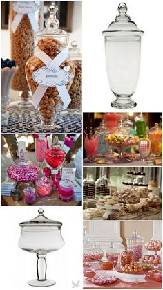 Wedding Desserts: Your Guide to Candy Buffet Jars & Vases