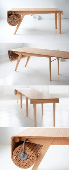 Roll out dining table