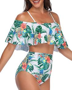 W YOU DI AN Women Falbala Bikini Set High Waisted Swimsuits Bottom Flounce Swimsuit Bathing Suit Summer Bathing Suits bathing Bikini Bottom Falbala Flounce high set suit Swimsuit swimsuits waisted women High Waisted Swimsuit Bottoms, Flounce Bikini Top, Bandeau Swimsuit, Summer Bathing Suits, Girls Bathing Suits, Bathing Suit Top, Cute Swimsuits, Women Swimsuits, Mode Outfits