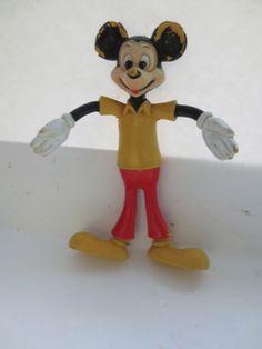 Vintage  Disney Mickey Mouse Bendable Figure - Durham Industries Item # 1510 #DurhamIndustries
