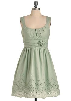 a little bit greener toned than what I'm thinking but I still like this one! eyelet details particularly. and the gathered neck line