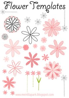 FREE printable flower templates - for DIY garlands, cards and stencil cuts ^^