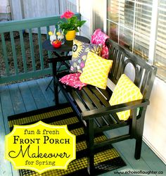 You will love this porch for Spring!