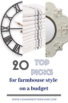 Top 20 picks for farmhouse style on a budget, shop the look! Update any room in your home with these designer picks from CDHardesty Designs! Playroom Design, Laundry Room Design, Dining Room Design, Kitchen Design, Farmhouse Style Curtains, Farmhouse Style Bedrooms, Farmhouse Vanity Lights, Rustic Wood Floating Shelves, Bedroom Design Inspiration