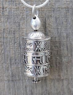 Sivana — Prayer Wheel Sliver Necklace