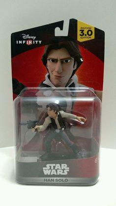 Disney Infinity 3.0 edition Star Wars HAN SOLO character game piece & web card #Disney