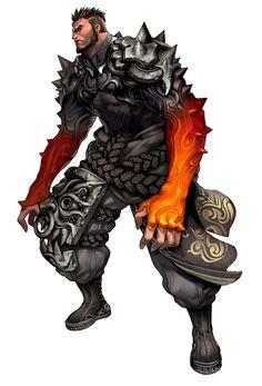 Blade & Soul #男性 #筋肉 #盔甲